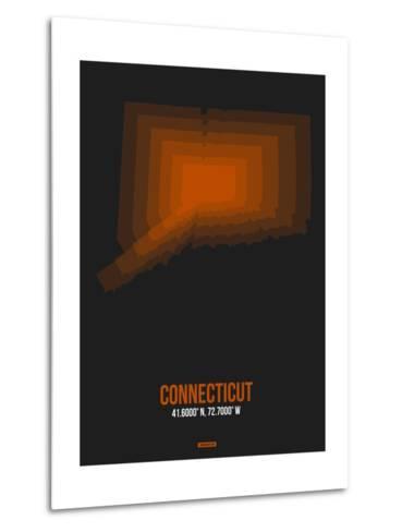 Connecticut Radiant Map 4-NaxArt-Metal Print