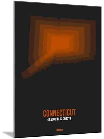 Connecticut Radiant Map 4-NaxArt-Mounted Art Print