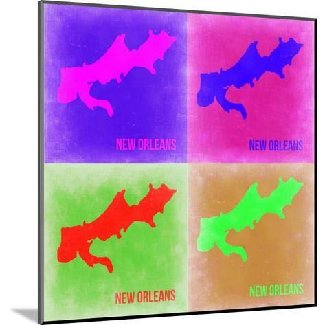New Orleans Pop Art Map 2-NaxArt-Mounted Art Print