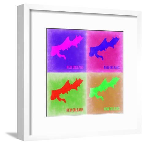 New Orleans Pop Art Map 2-NaxArt-Framed Art Print