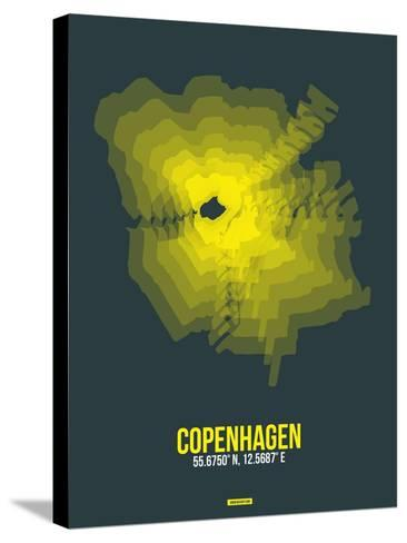 Copenhagen Radiant Map 1-NaxArt-Stretched Canvas Print