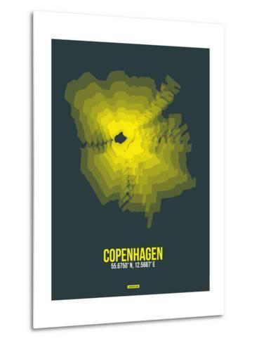 Copenhagen Radiant Map 1-NaxArt-Metal Print
