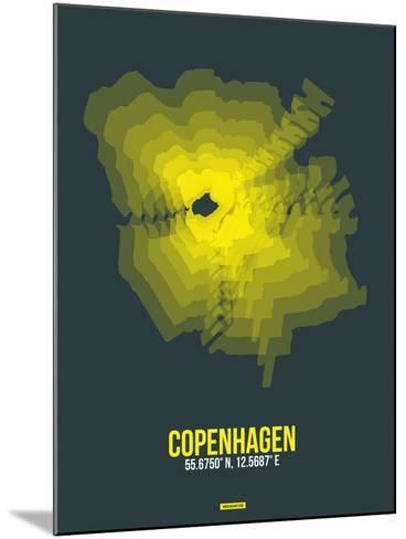 Copenhagen Radiant Map 1-NaxArt-Mounted Art Print