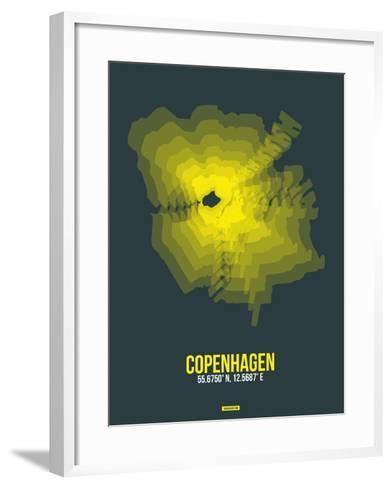 Copenhagen Radiant Map 1-NaxArt-Framed Art Print
