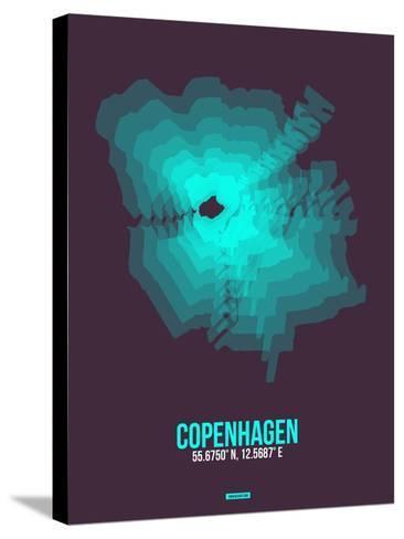 Copenhagen Radiant Map 2-NaxArt-Stretched Canvas Print