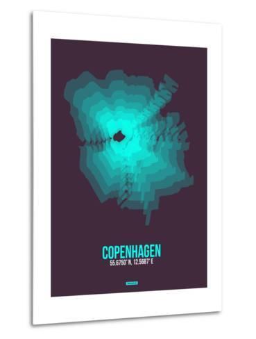 Copenhagen Radiant Map 2-NaxArt-Metal Print