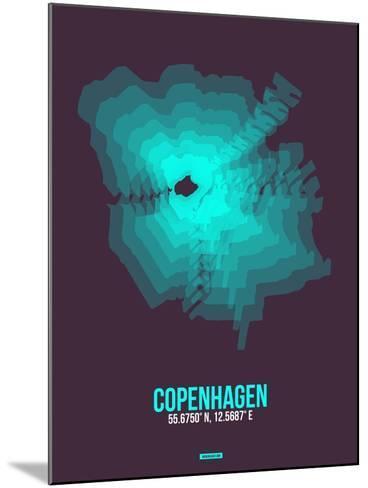 Copenhagen Radiant Map 2-NaxArt-Mounted Art Print