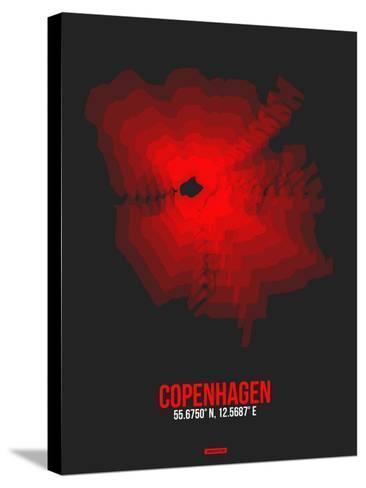 Copenhagen Radiant Map 3-NaxArt-Stretched Canvas Print