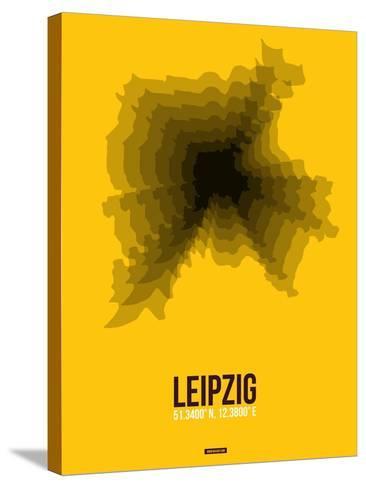 Leipzig Radiant Map 1-NaxArt-Stretched Canvas Print