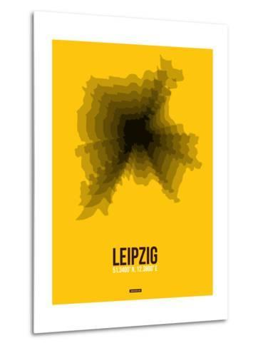 Leipzig Radiant Map 1-NaxArt-Metal Print