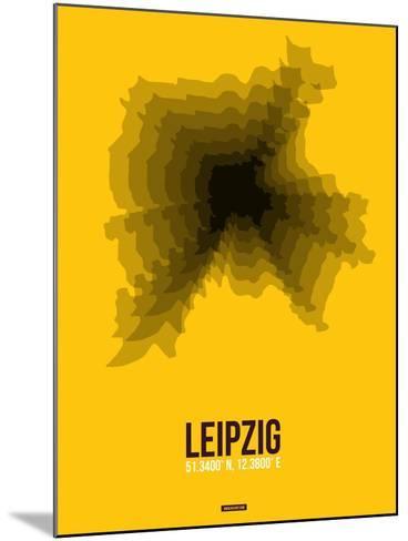 Leipzig Radiant Map 1-NaxArt-Mounted Art Print