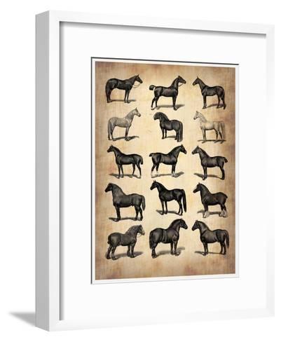 Vintage Horses Collection-NaxArt-Framed Art Print