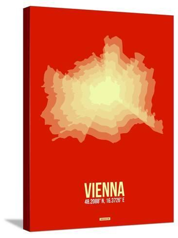 Vienna Radiant Map 1-NaxArt-Stretched Canvas Print