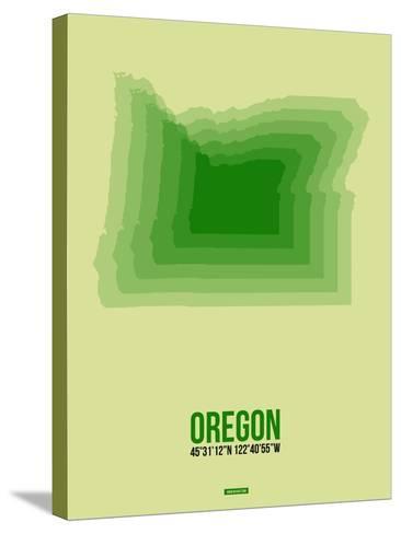 Oregon Radiant Map 3-NaxArt-Stretched Canvas Print
