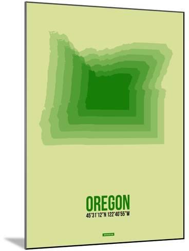 Oregon Radiant Map 3-NaxArt-Mounted Art Print