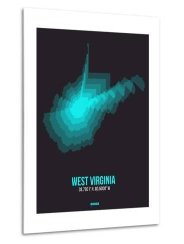 West Virginia Radiant Map 6-NaxArt-Metal Print