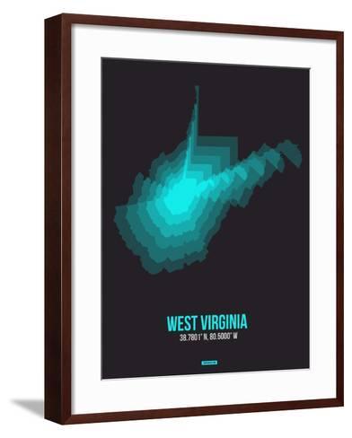 West Virginia Radiant Map 6-NaxArt-Framed Art Print