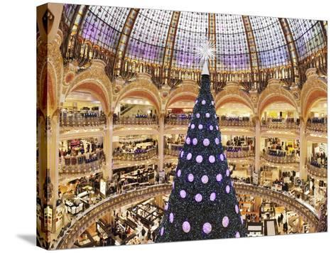 Christmas Decorations in Galeries Lafayette--Stretched Canvas Print