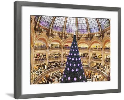Christmas Decorations in Galeries Lafayette--Framed Art Print