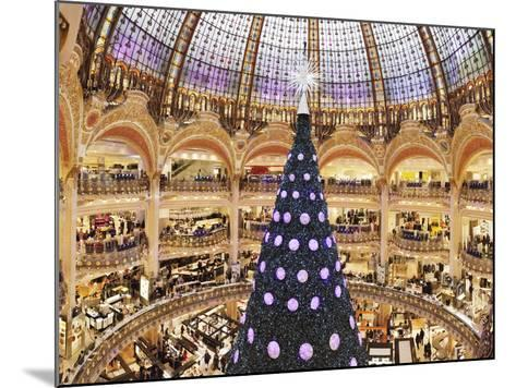 Christmas Decorations in Galeries Lafayette--Mounted Photographic Print