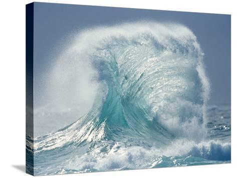 Waves Splashing in the Sea--Stretched Canvas Print