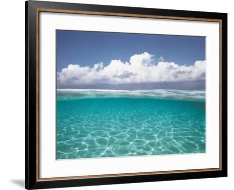 Cumulus Clouds Over Sea, Aqua--Framed Art Print