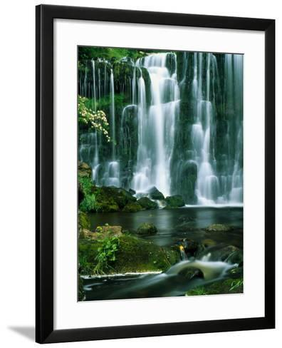 Waterfall Hebden Gill N Yorshire England--Framed Art Print