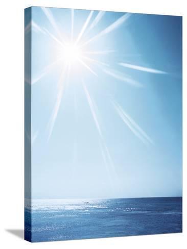 Sunshine Over Sea, Lens Flare, Blue--Stretched Canvas Print