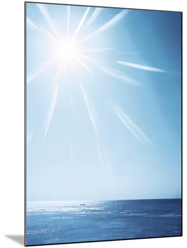 Sunshine Over Sea, Lens Flare, Blue--Mounted Photographic Print