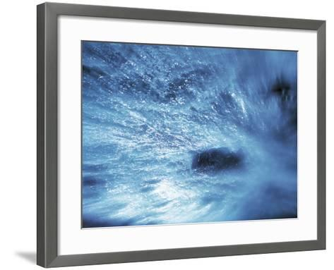 Abstract Water Splash--Framed Art Print