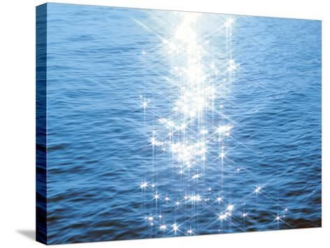 Blue Water, Sparkling--Stretched Canvas Print