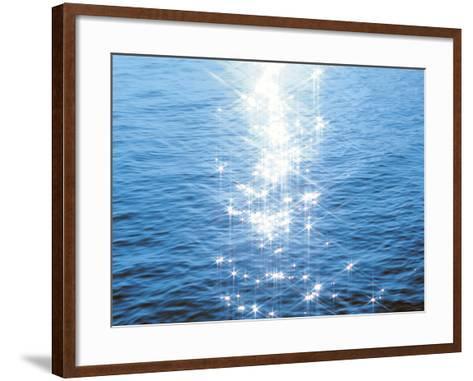Blue Water, Sparkling--Framed Art Print