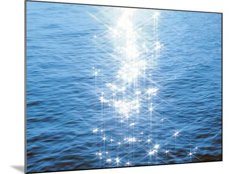 Blue Water, Sparkling--Mounted Photographic Print
