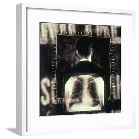 Man  And  X-ray--Framed Art Print