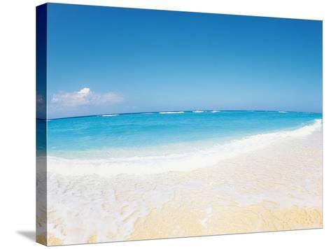 Surf at Seashore And Blue Sky in Background--Stretched Canvas Print
