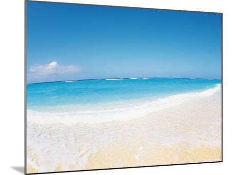 Surf at Seashore And Blue Sky in Background--Mounted Photographic Print