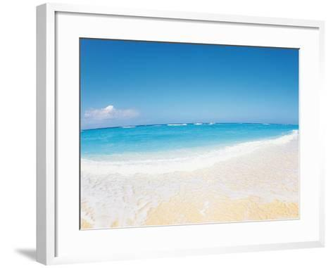 Surf at Seashore And Blue Sky in Background--Framed Art Print