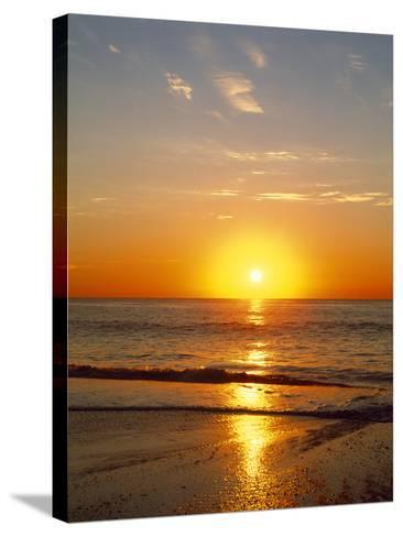 Sunrise Over the Sea--Stretched Canvas Print