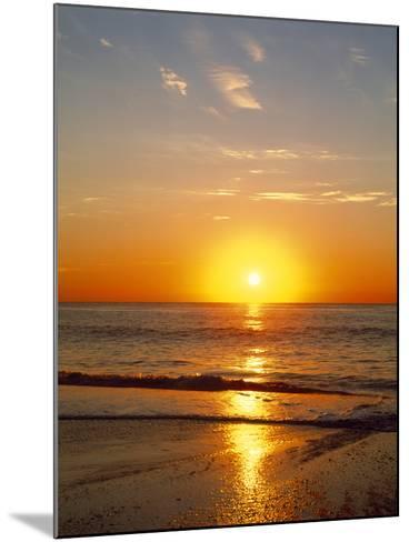 Sunrise Over the Sea--Mounted Photographic Print