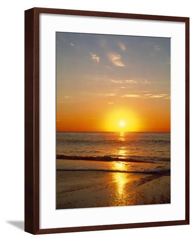 Sunrise Over the Sea--Framed Art Print
