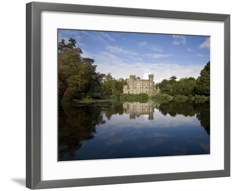 Lake And 19th Century Gothic Revival Johnstown Castle, Co Wexford, Ireland--Framed Art Print