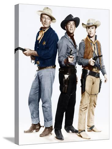 RIO BRAVO, from left: John Wayne, Dean Martin, Ricky Nelson, 1959--Stretched Canvas Print