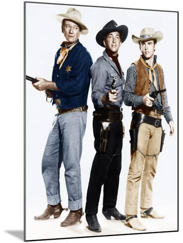 RIO BRAVO, from left: John Wayne, Dean Martin, Ricky Nelson, 1959--Mounted Photo