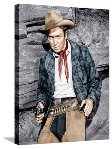 THE NAKED SPUR, James Stewart, 1953--Stretched Canvas Print
