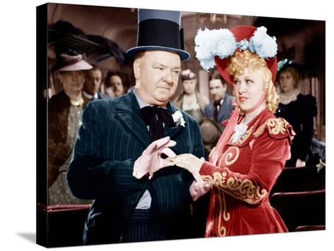 My Little Chickadee, W.C. Fields, Mae West, 1940--Stretched Canvas Print