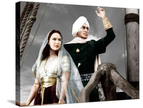THE THIEF OF BAGDAD, from left: June Duprez, Conrad Veidt, 1940--Stretched Canvas Print