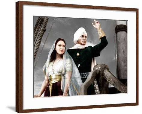 THE THIEF OF BAGDAD, from left: June Duprez, Conrad Veidt, 1940--Framed Art Print
