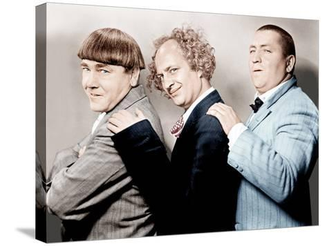 Disorder in the Court, Moe Howard, Larry Fine, Curly Howard, (aka The Three Stooges)--Stretched Canvas Print