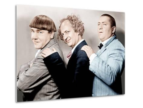 Disorder in the Court, Moe Howard, Larry Fine, Curly Howard, (aka The Three Stooges)--Metal Print