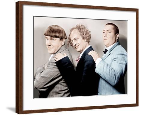 Disorder in the Court, Moe Howard, Larry Fine, Curly Howard, (aka The Three Stooges)--Framed Art Print